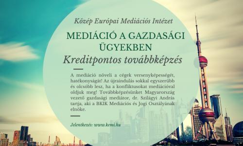 Mediáció a gazdasági és üzleti ügyekben